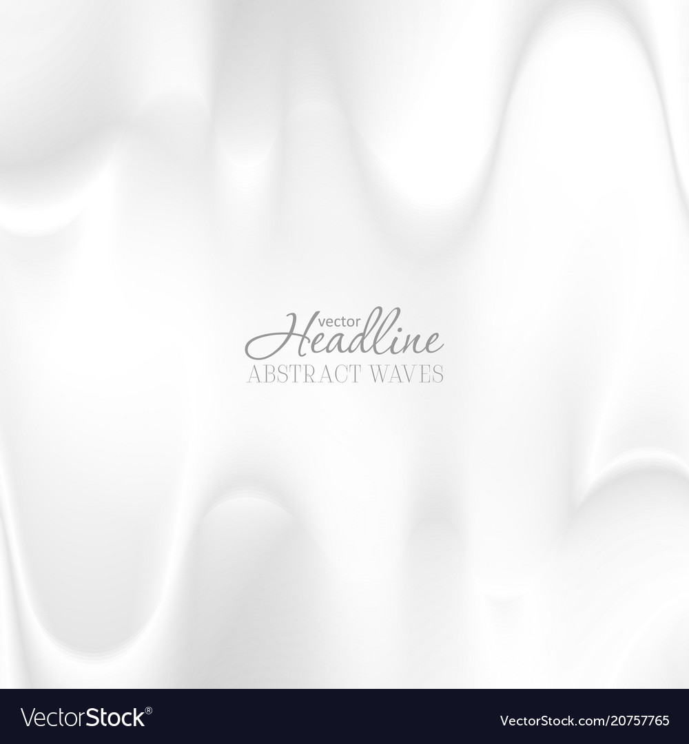 Abstract grey smooth blurred waves modern vector image