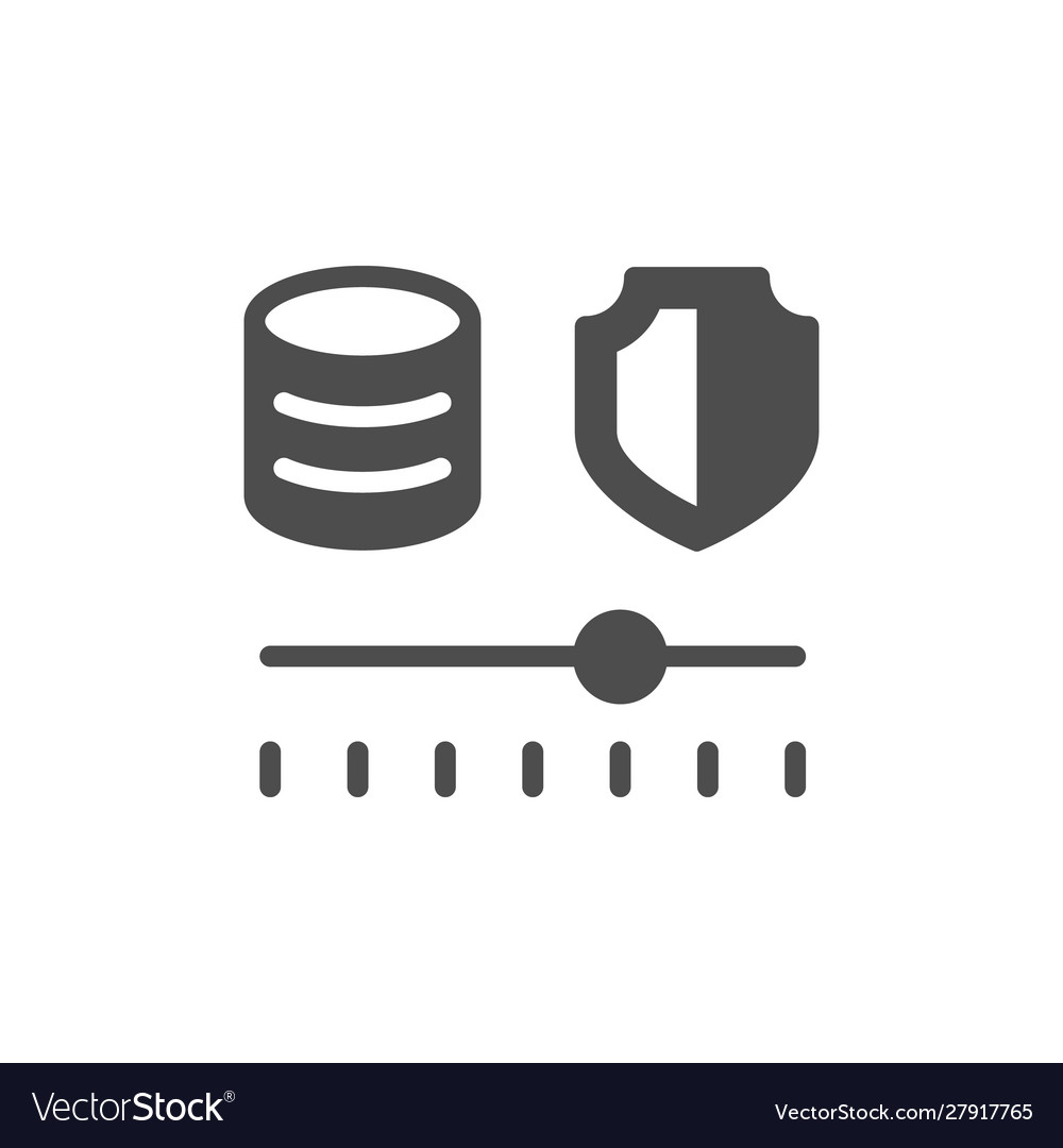 Financial risk management glyph icon
