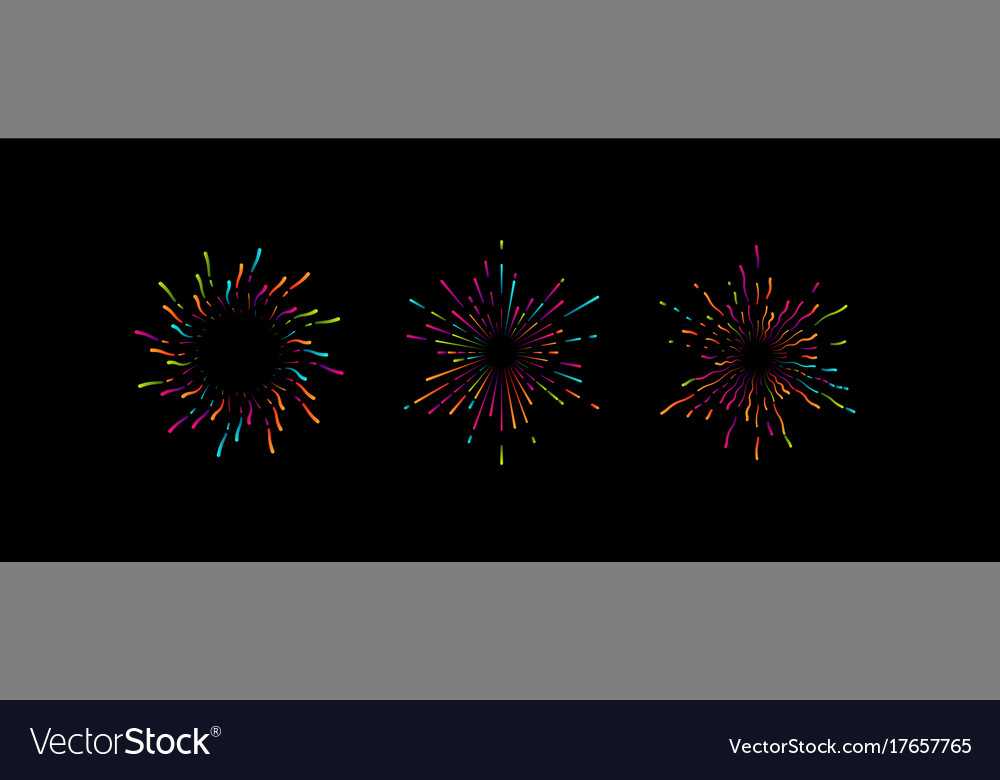 Fireworks grapfic shapes