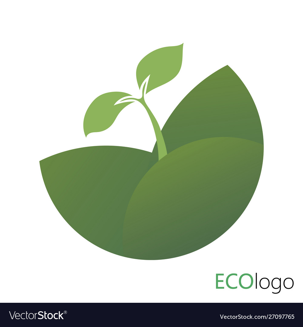 Logotype agriculture logo with a young plant