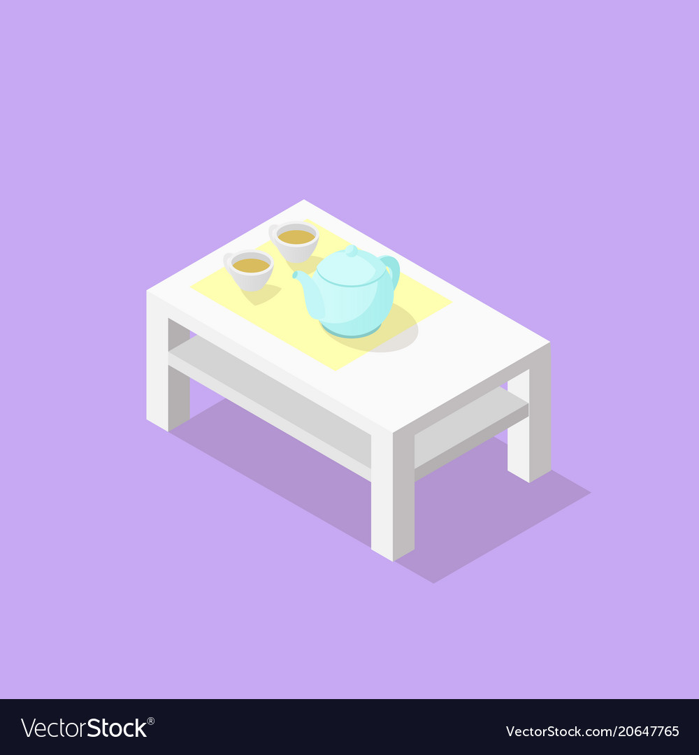 Low poly isometric coffee table