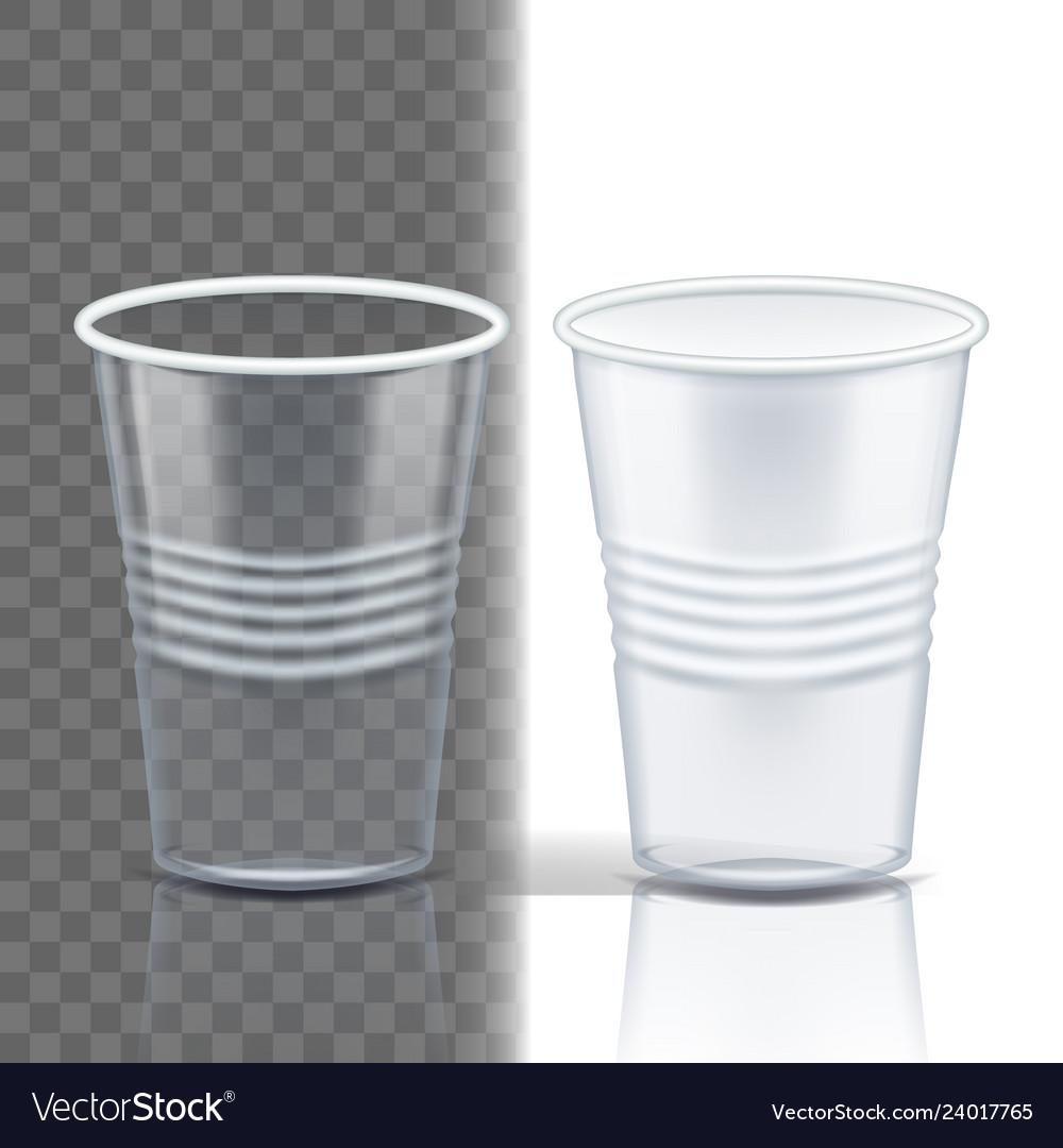 Plastic cup transparent graphic brand