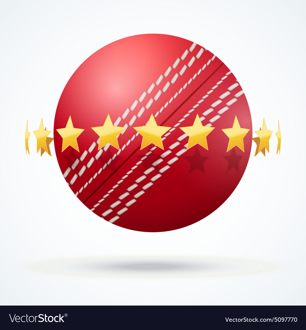 f43904166cd Cricket leather ball with Royalty Free Vector Image
