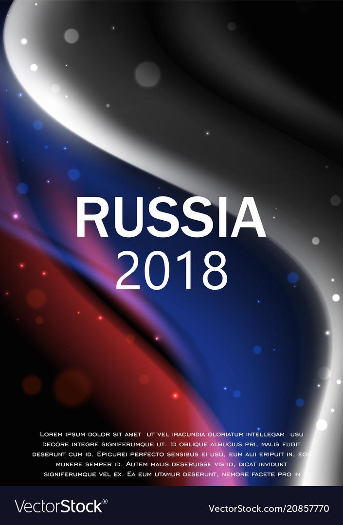 Flag of russia brochure design