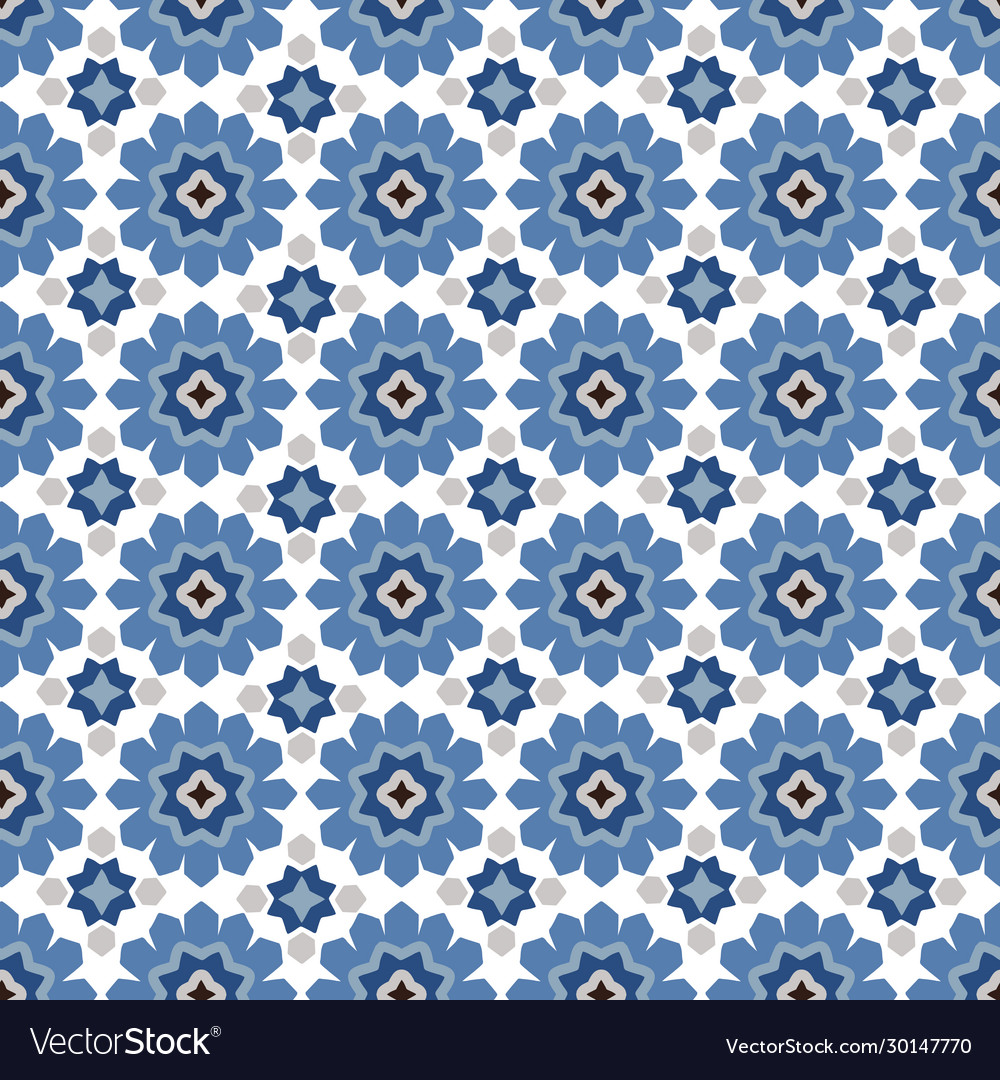 Hand drawn stars shaped moroccan seamless pattern