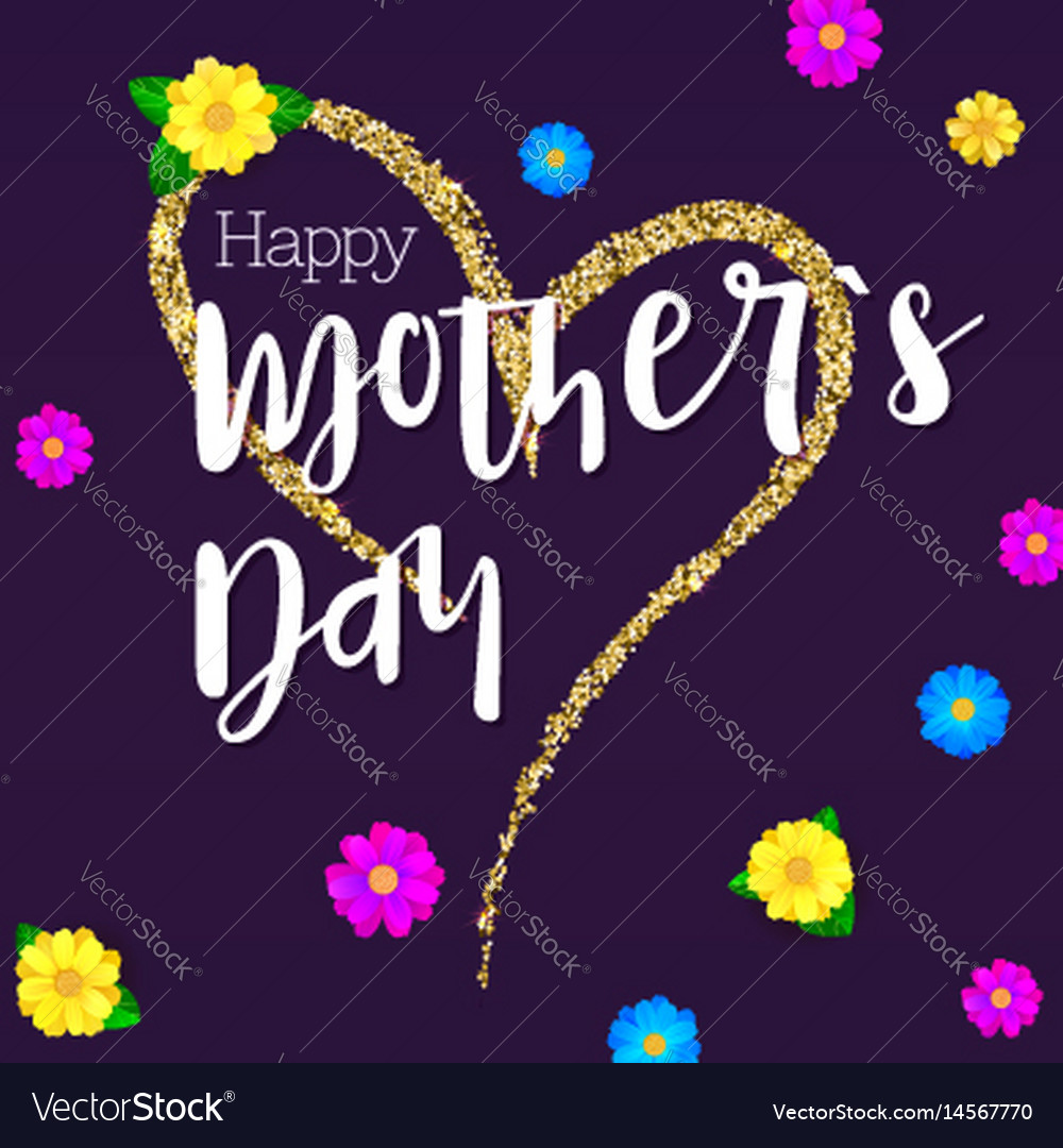 Happy mother day greeting banner for your vector image