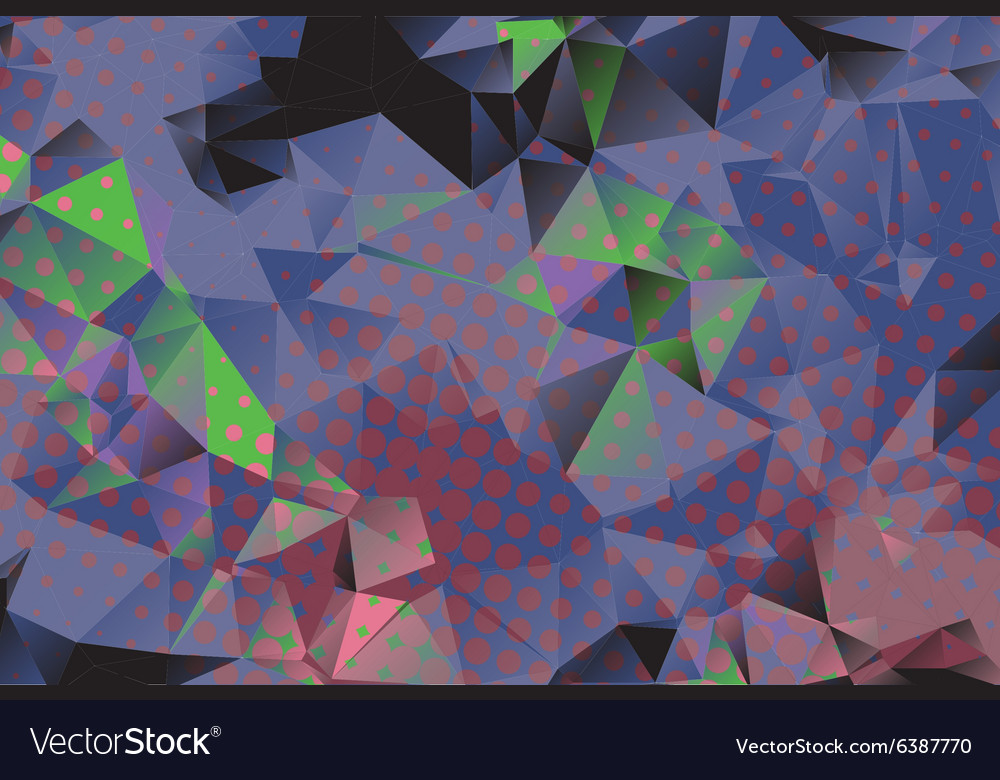 Low poly background with many dots