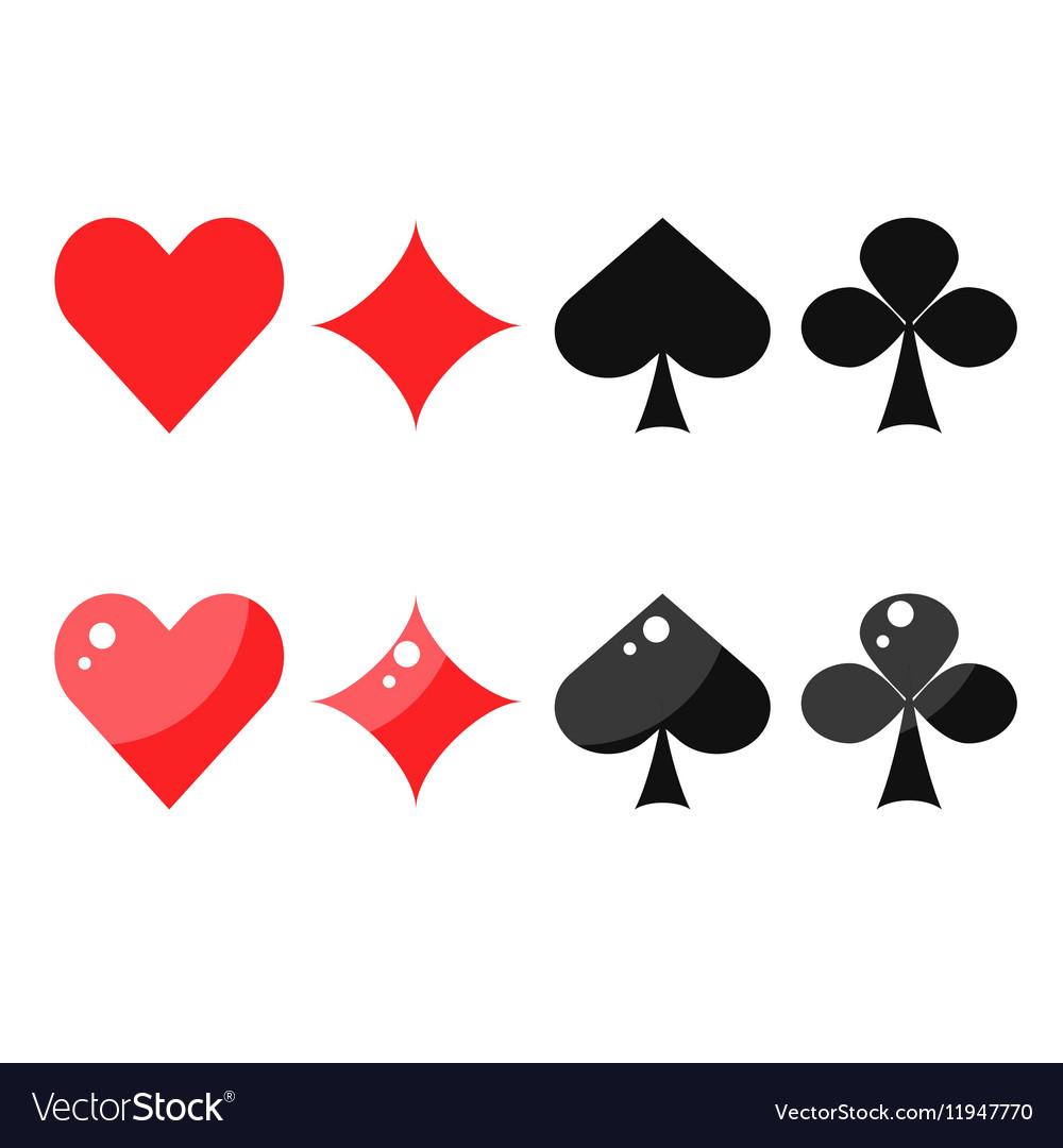 card heart spade diamond club  Playing card suits spades hearts diamonds and