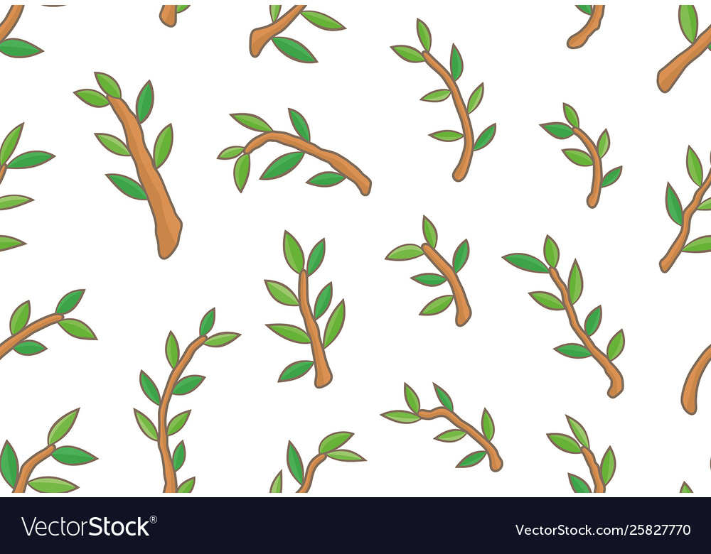 Seamless pattern with branches tree
