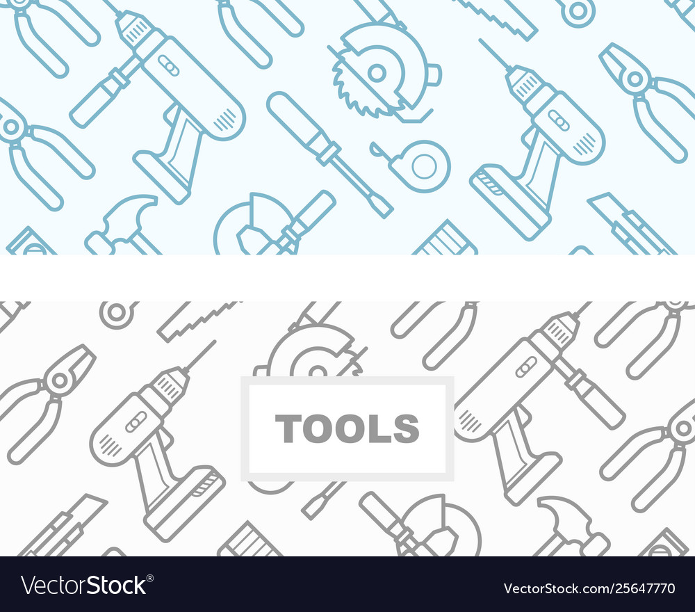 Seamless pattern with construction tools icons