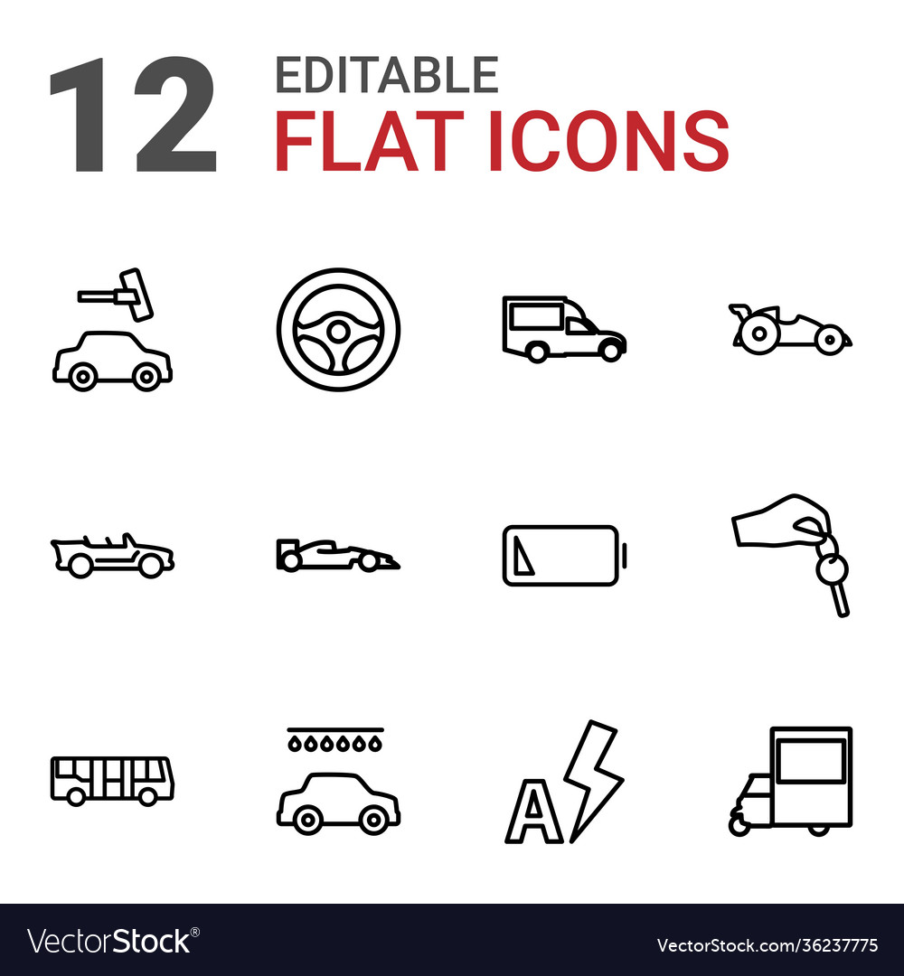 12 auto icons
