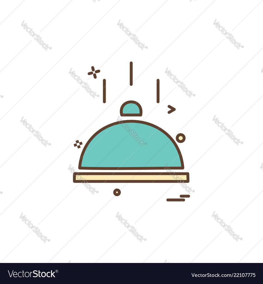 Catering food icon design