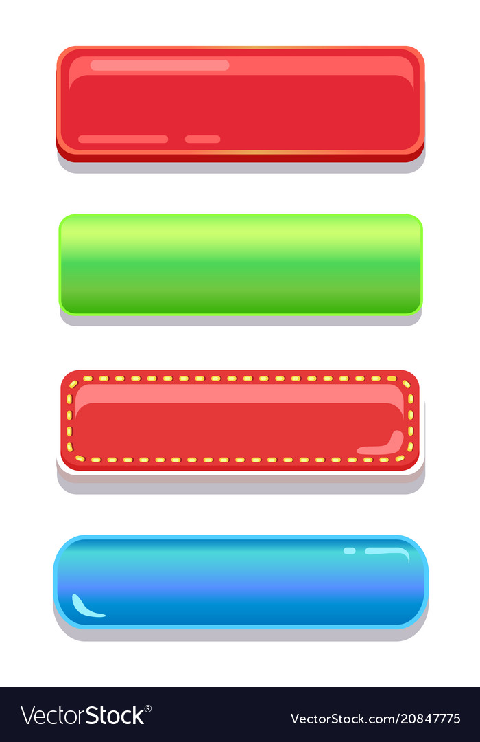 Colorful editable navigation buttons set