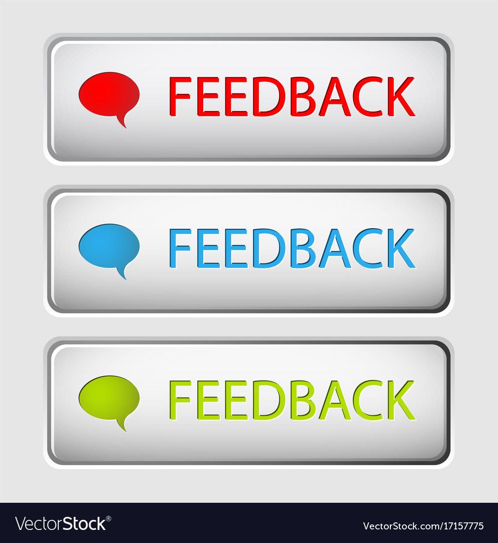 Feedback buttons vector image