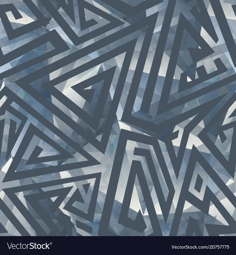 Grey color maze seamless pattern
