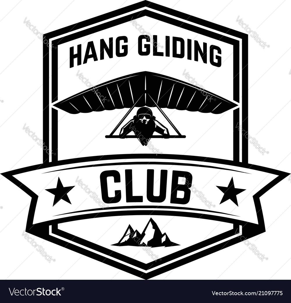 Hang gliding club emblem template design element