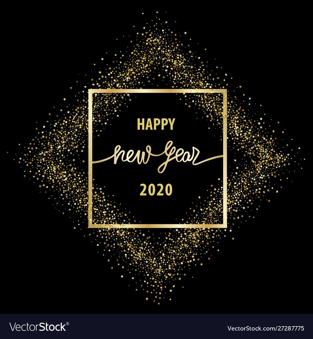 Happy new year 2020 luxury greeting card