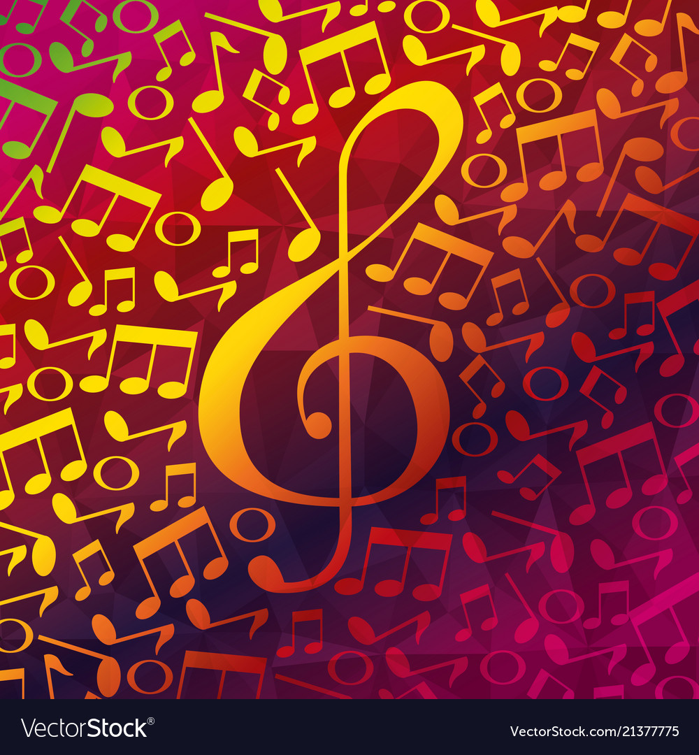 Live music notes patern