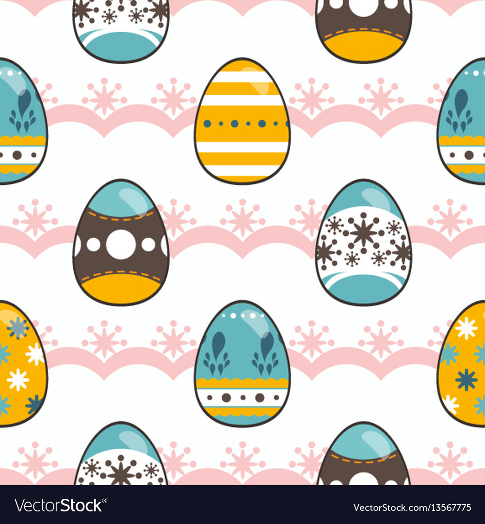 Pattern for happy easter day