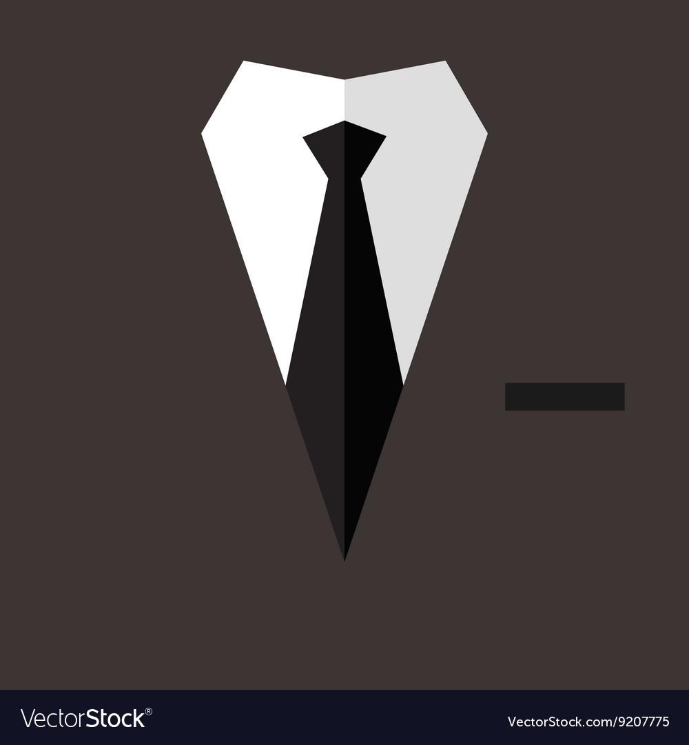 Professional suit flat poster