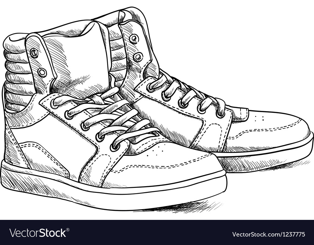 eb966eda8ebc Sketch shoes Royalty Free Vector Image - VectorStock