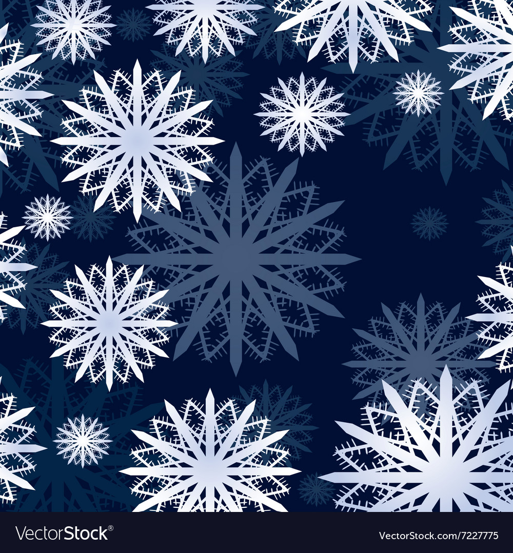 Snow flakes winter card vector image