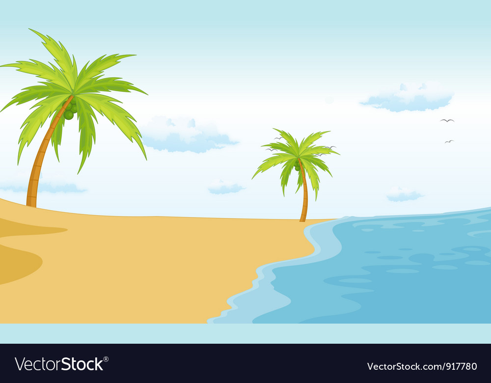 Beach Scene Royalty Free Vector Image