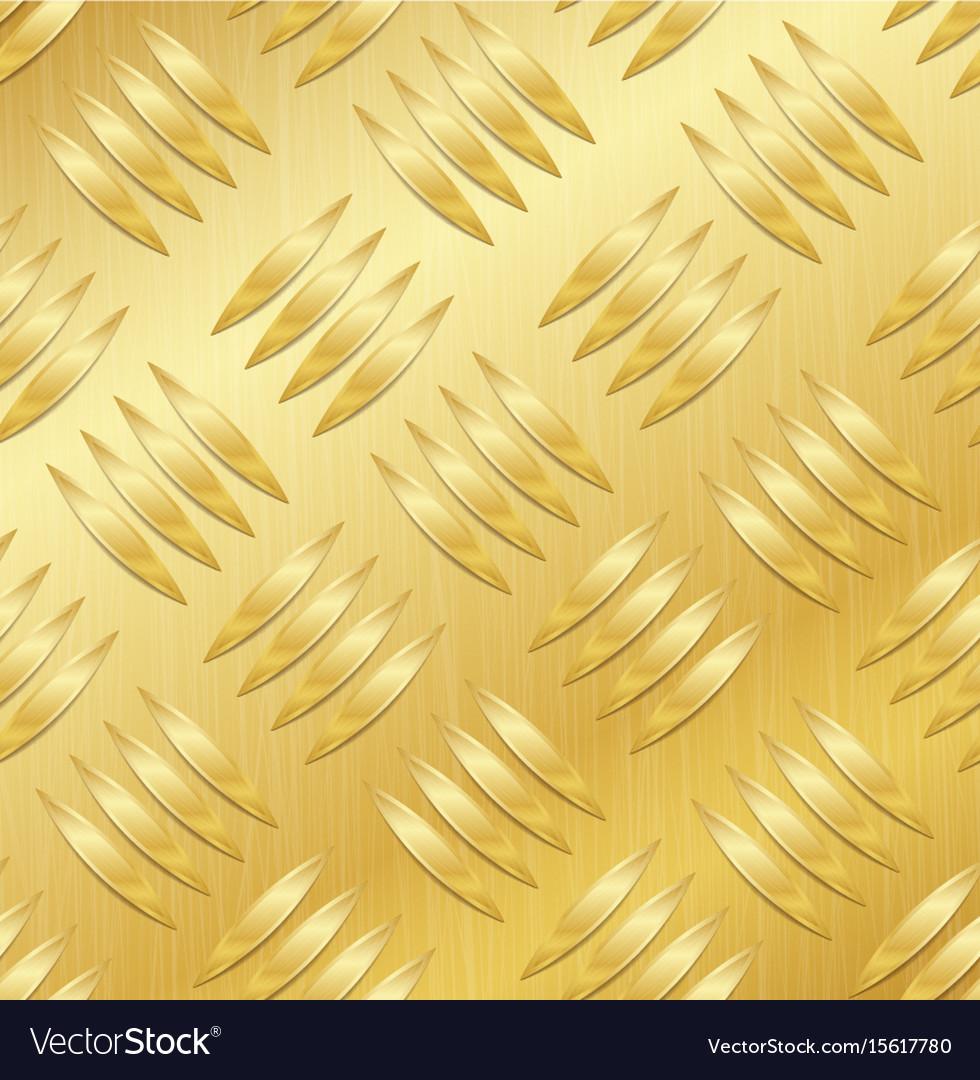 Diamond metal plate seamless pattern vector image