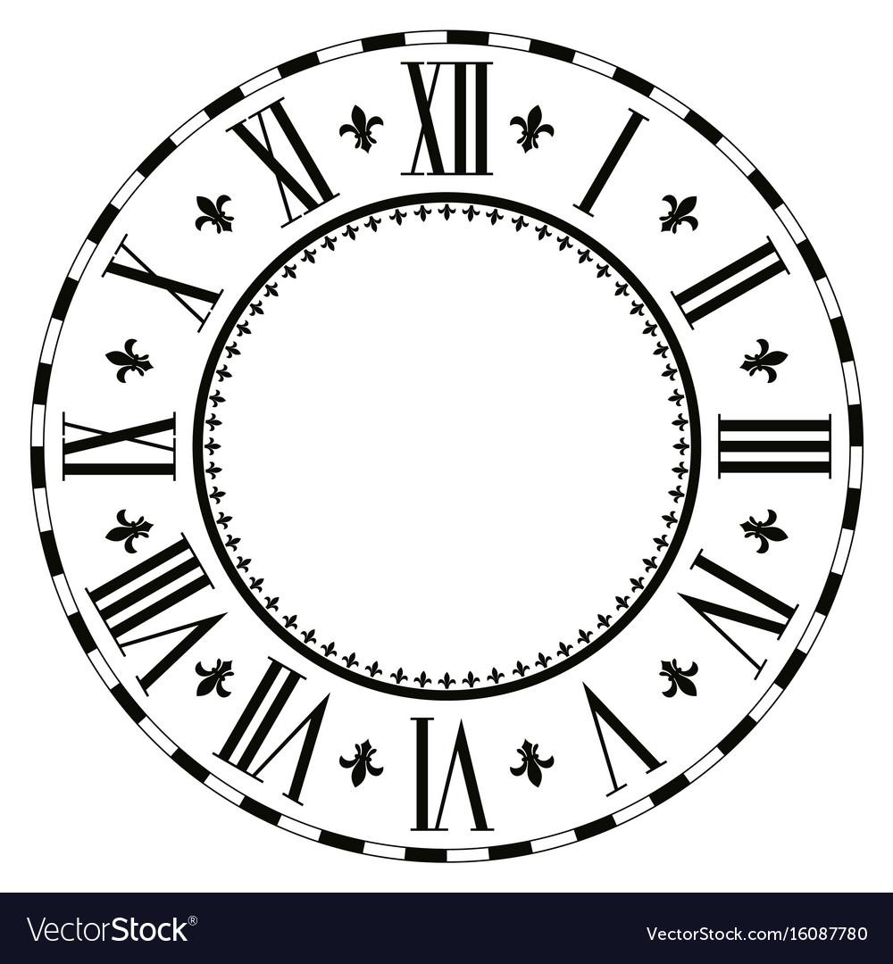 Elegant roman clock
