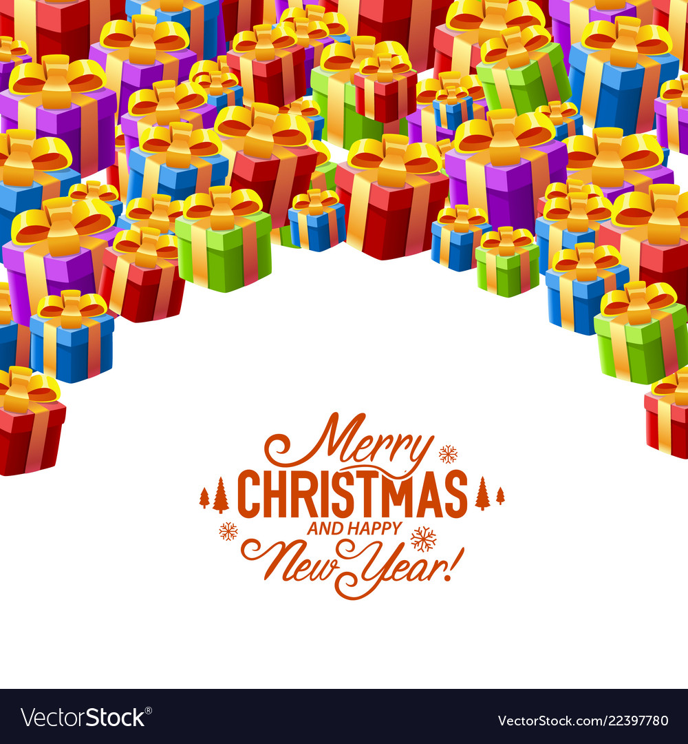 Gift collage cover merry christmas