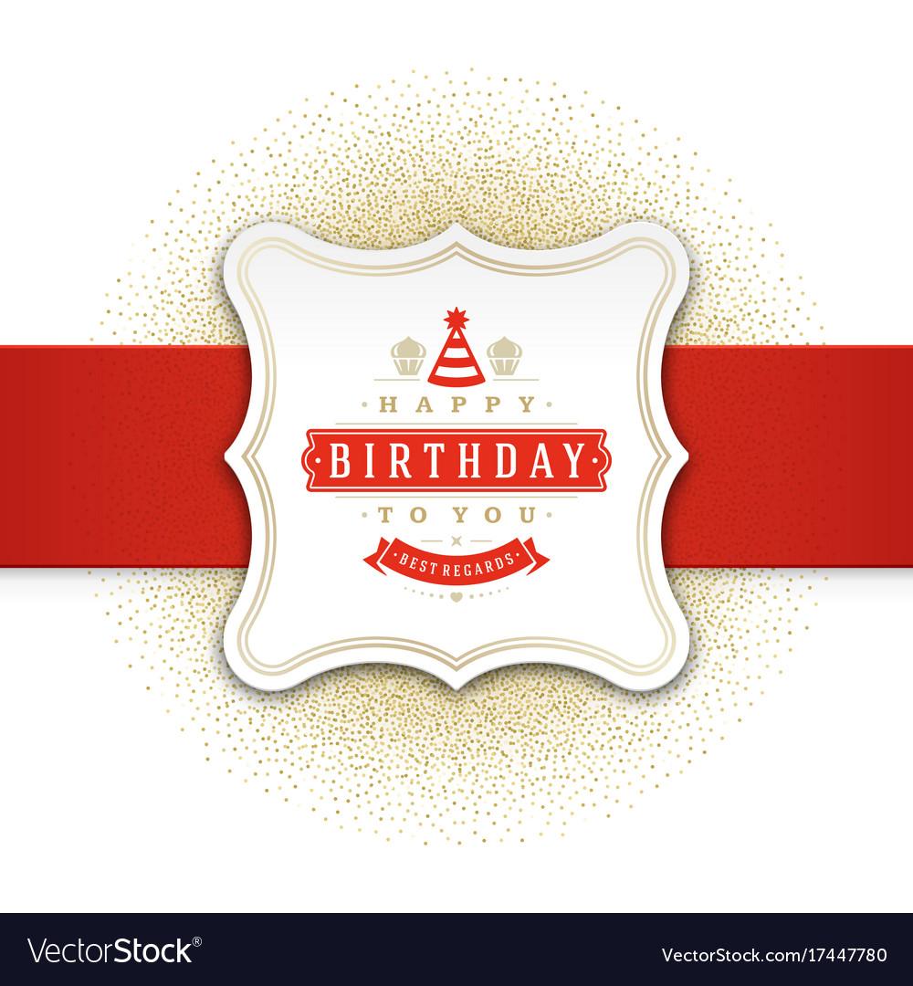 Happy birthday greeting card design royalty free vector happy birthday greeting card design vector image m4hsunfo