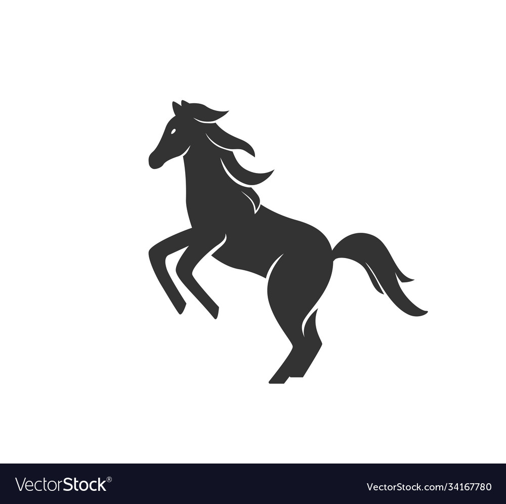 Horse silhouette black and