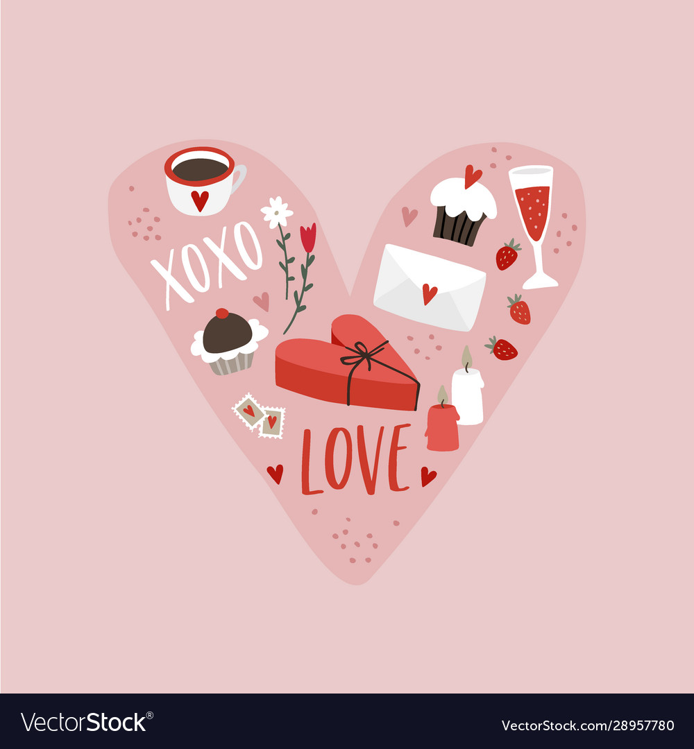 Valentines day or wedding greeting card party
