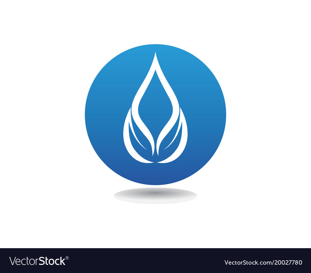 Water drop logo template design