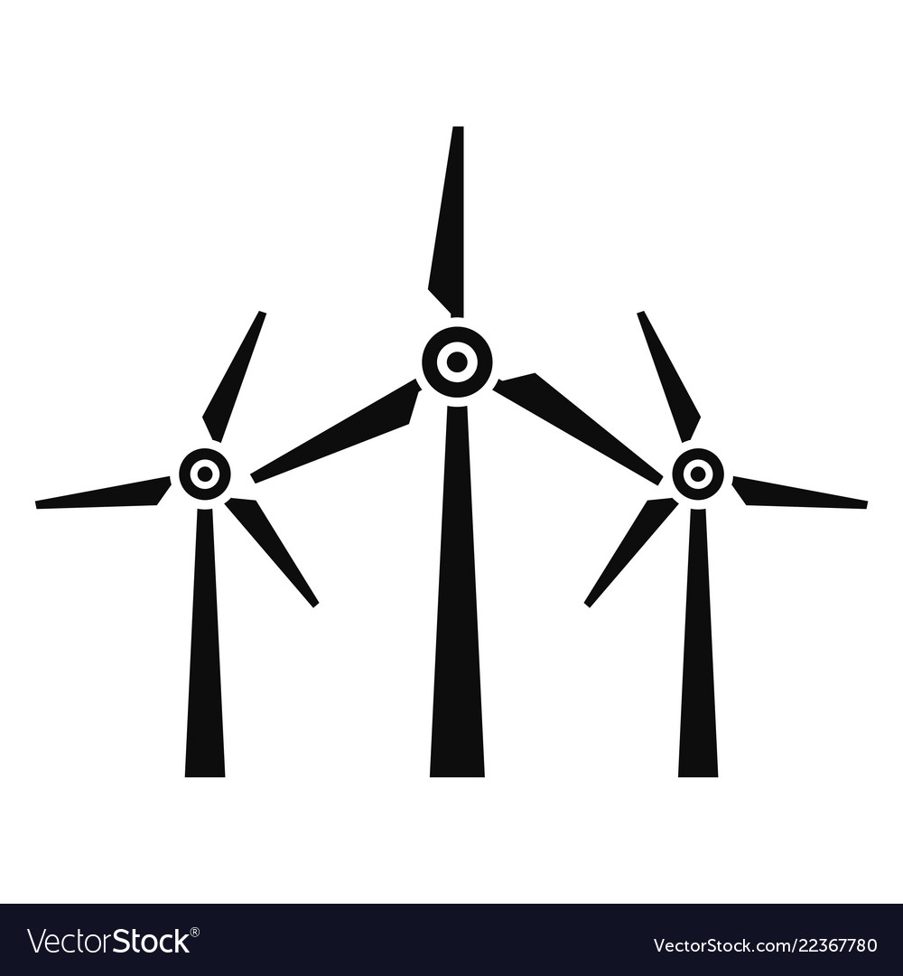 Wind energy icon simple style