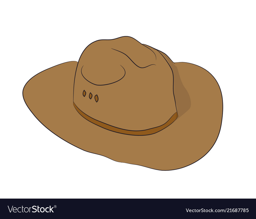 Brown hat lies drawn