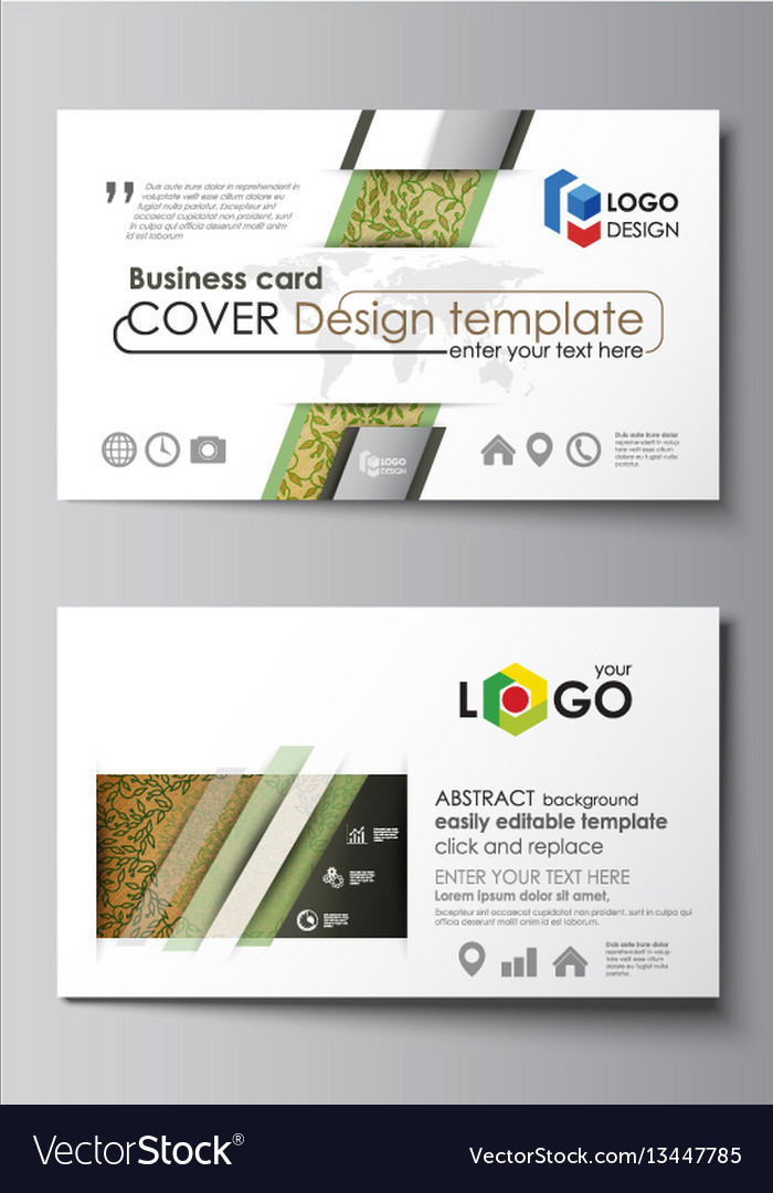 Business card templates easy editable layouts vector image cheaphphosting Choice Image