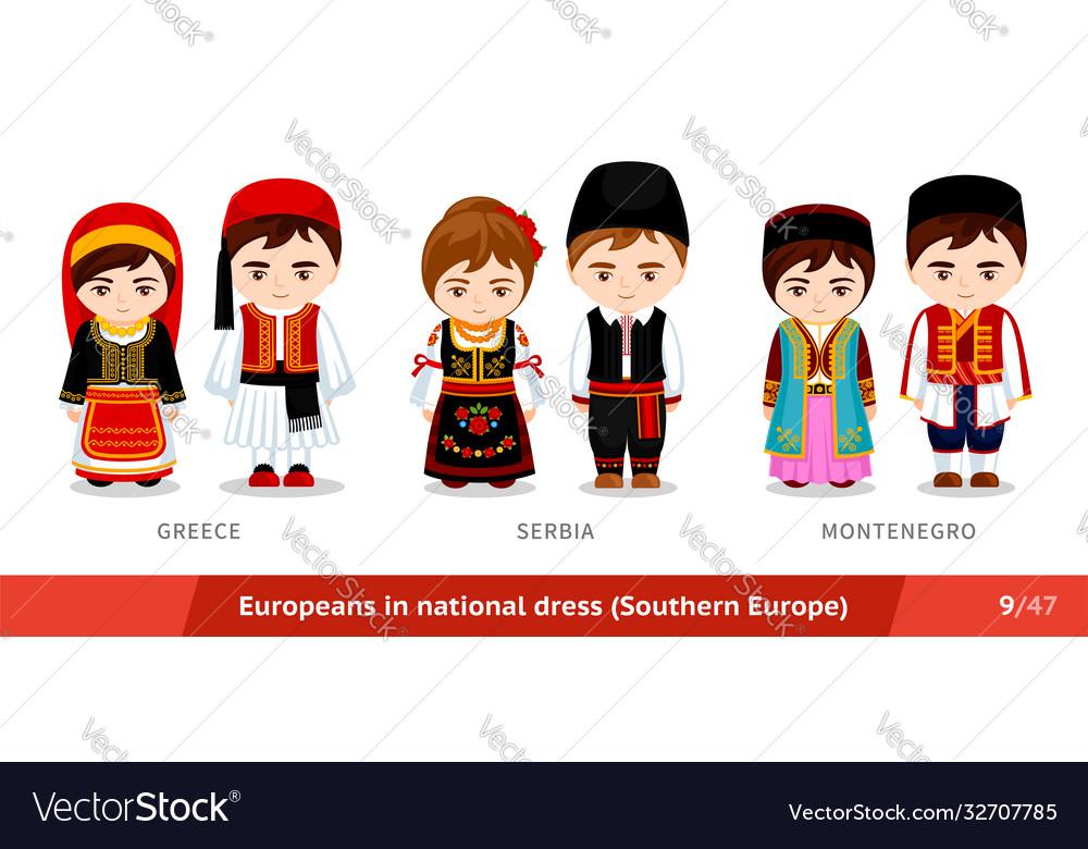 Greece serbia montenegro men and women in
