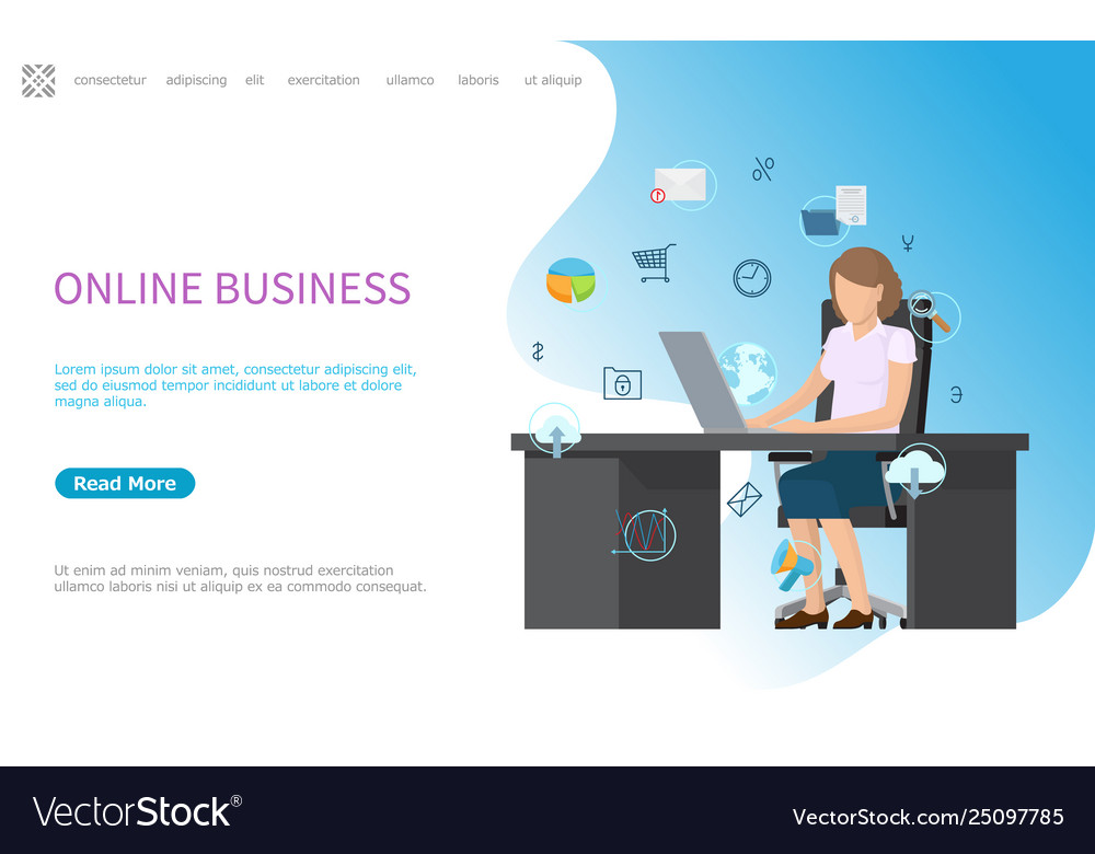 Online business web poster processes in computer