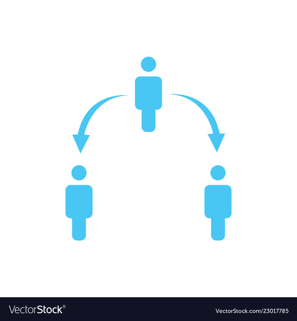 Structure of company icon three people business