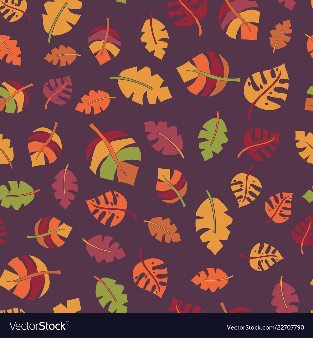 Autumn leaf seamless pattern fall design
