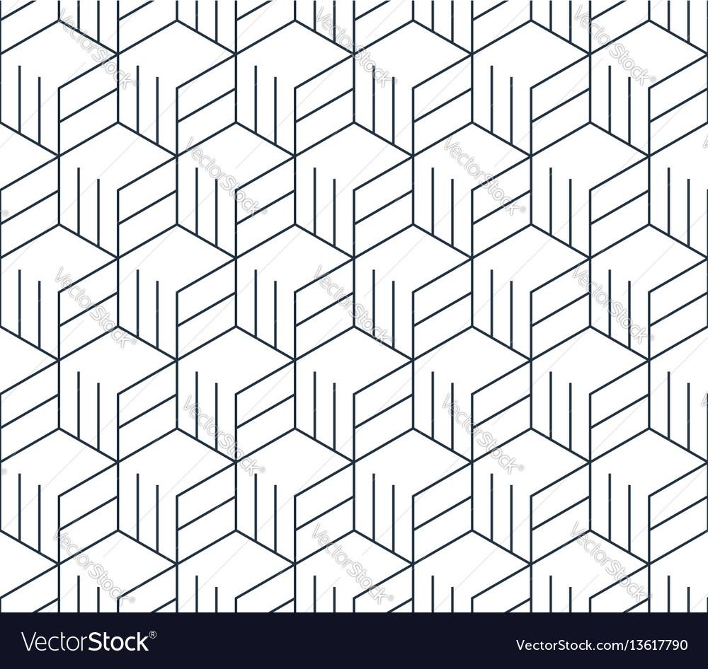 Black line pattern on white seamless backdrop