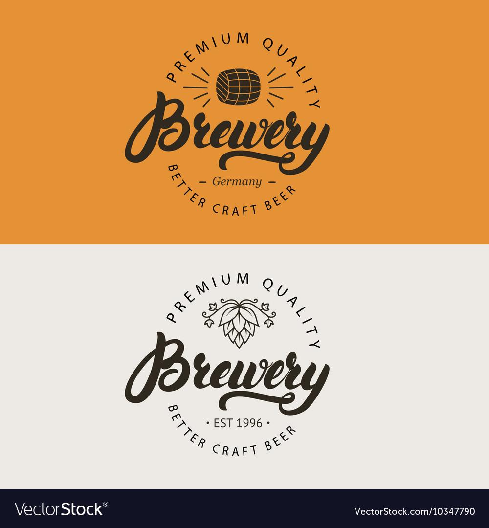 Brewery hand written lettering logo