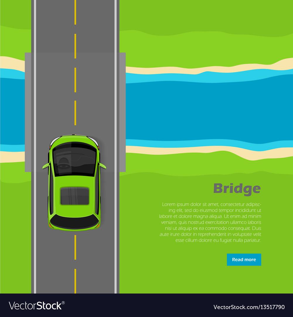 Bridge conceptual flat web banner