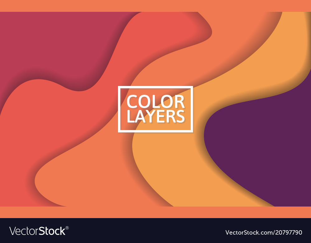 Colorful layers background abstract waves with