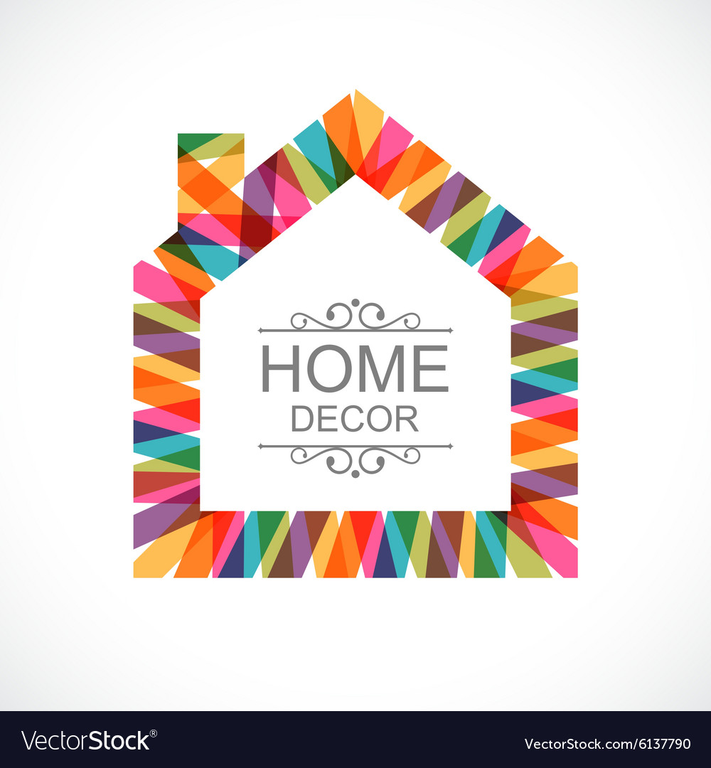 Creative House Decoration Icon Royalty Free Vector Image
