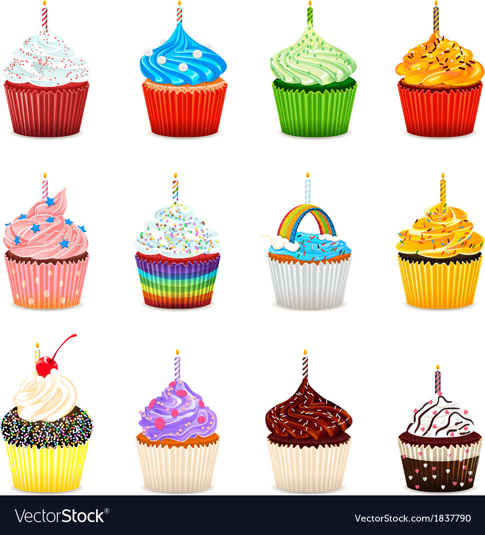 Cupcakes Collection Set