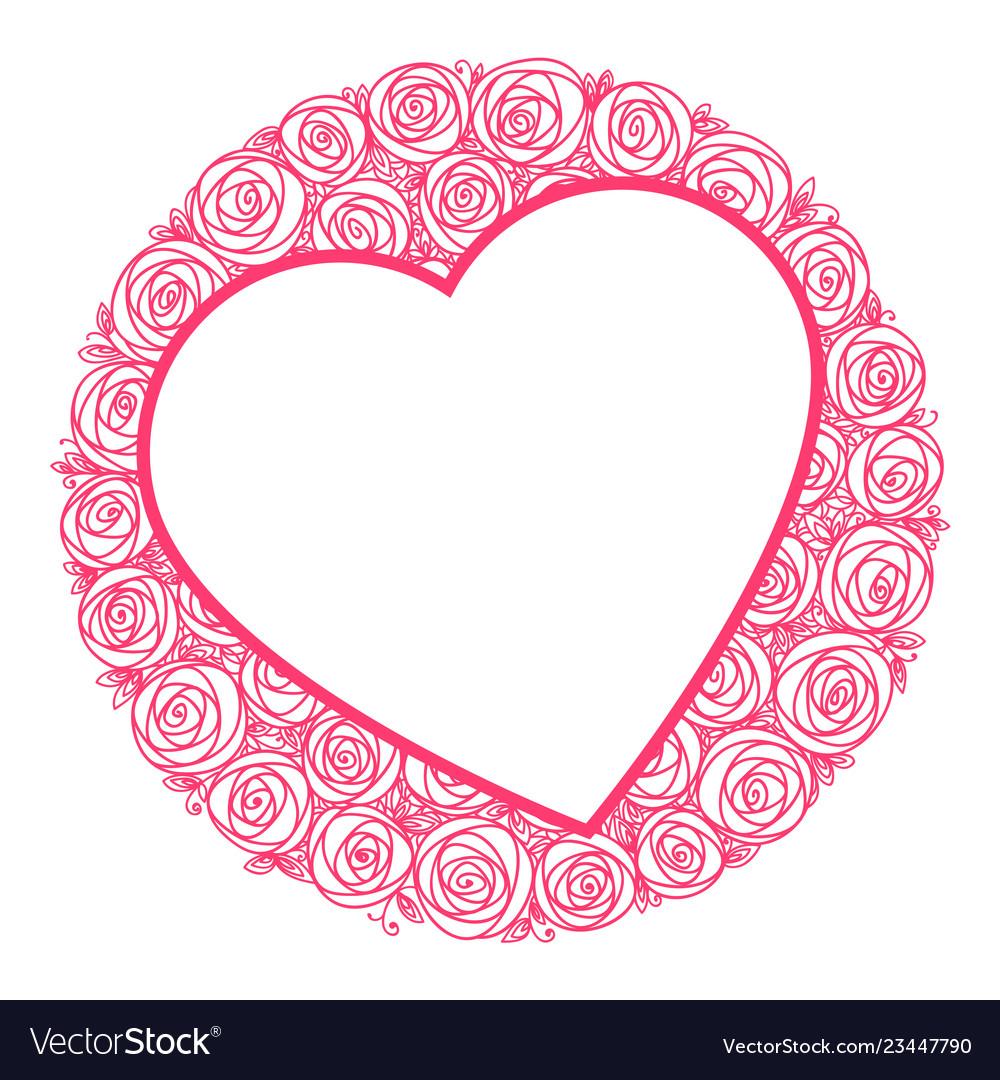 Heart shape frame for message
