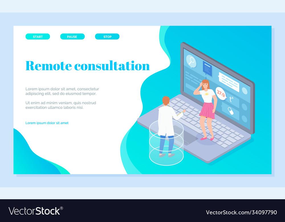 Landing page online medical consultation