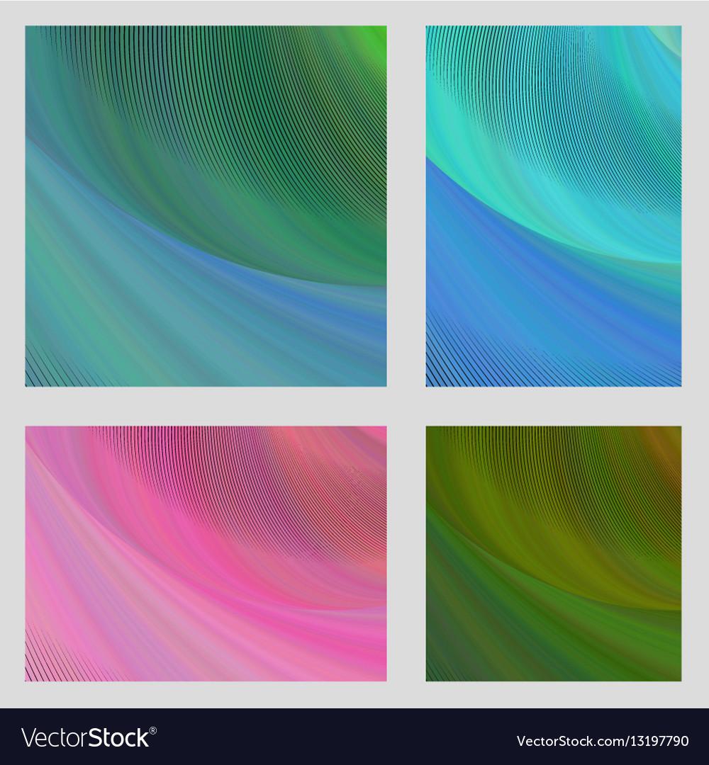Psychedelic brochure background set